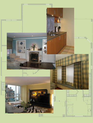 Full service interior design and decorating by Peggy Berk of Area Aesthetics